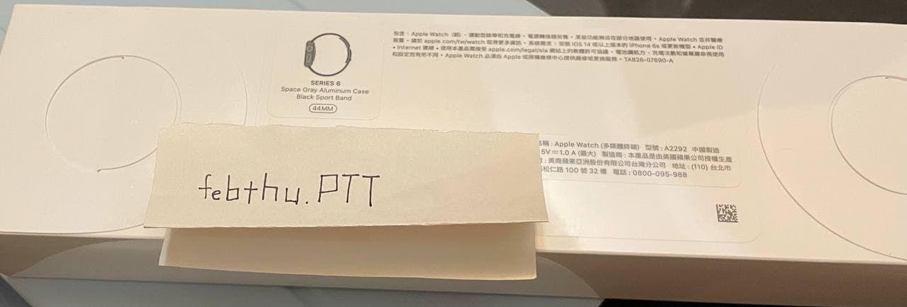 [販售] 全國 全新未拆 Watch S6 GPS 44mm 黑
